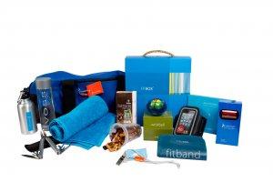 Voor een van onze klanten ontwikkelden wij een geschenkpakket met zowel sportieve gadgets als lekker eten en drinken!