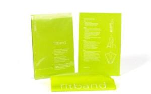 Kerstpakket Fitband met oefeninstructies (groen)