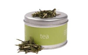 Kerstpakket Groene thee in bewaarblik