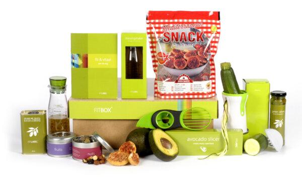 Kerstpakket Salad start + food