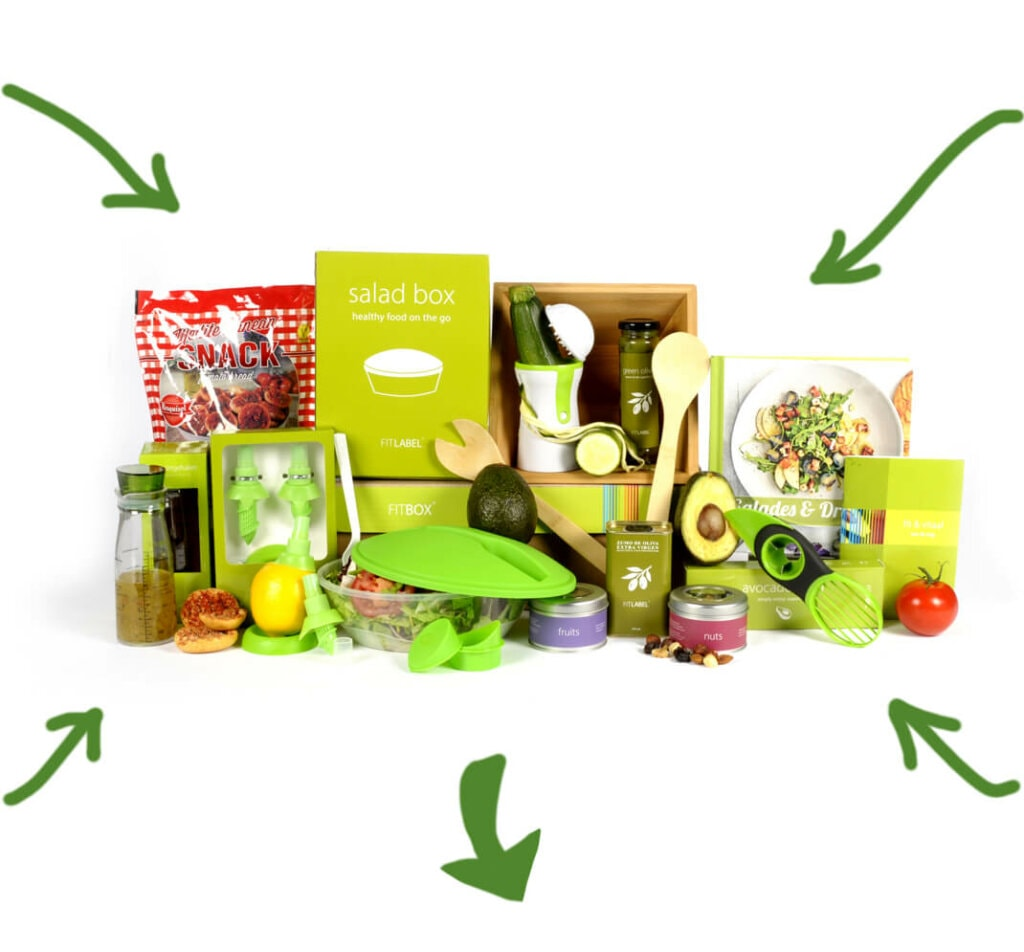 Kerstpakket Salad exclusief + food