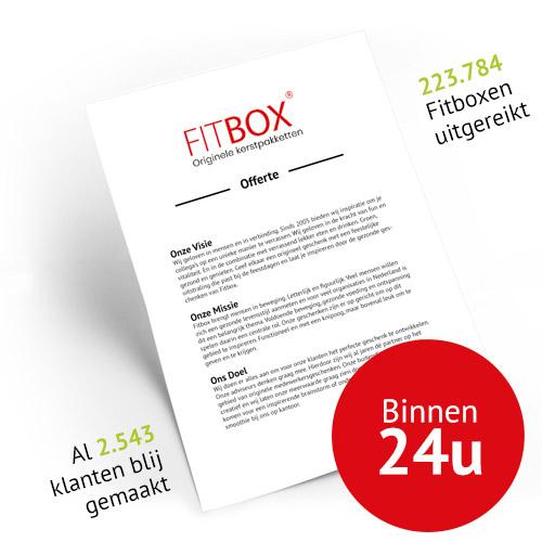 Offerte kerstpakket Fitbox